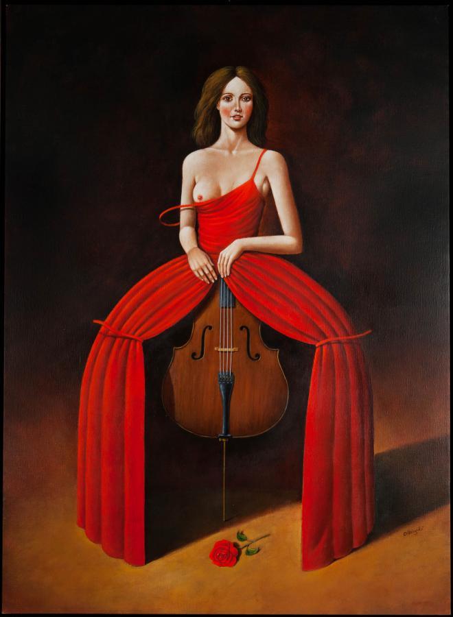 Viola in red, 2016 r. - 1