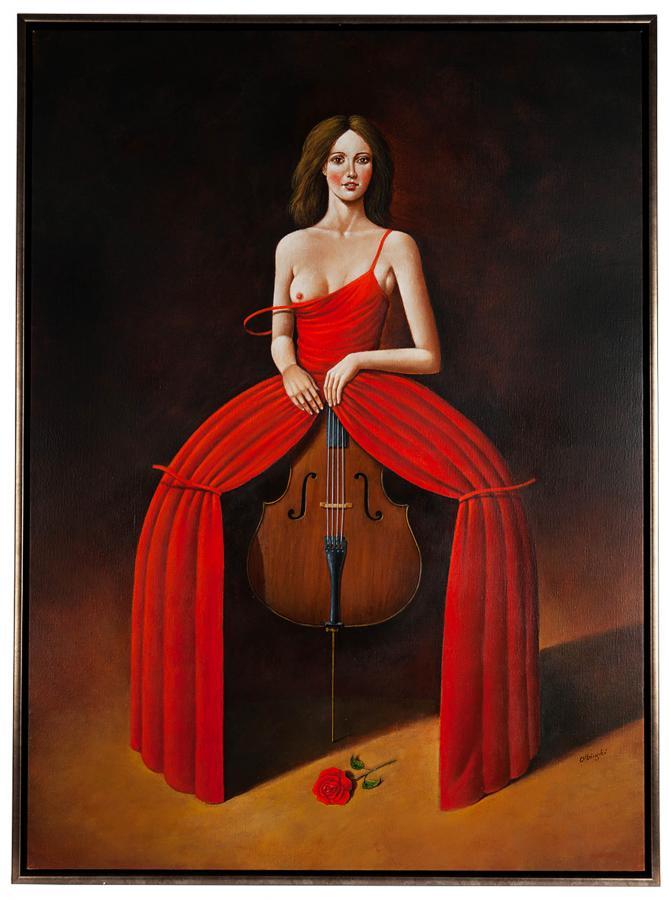 Viola in red, 2016 r. - 2