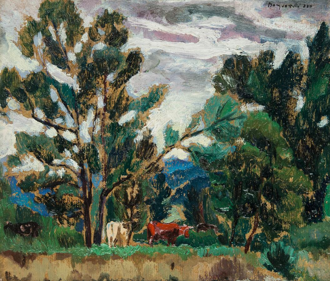 Pejzaż z krowami, 1930 r. - 2