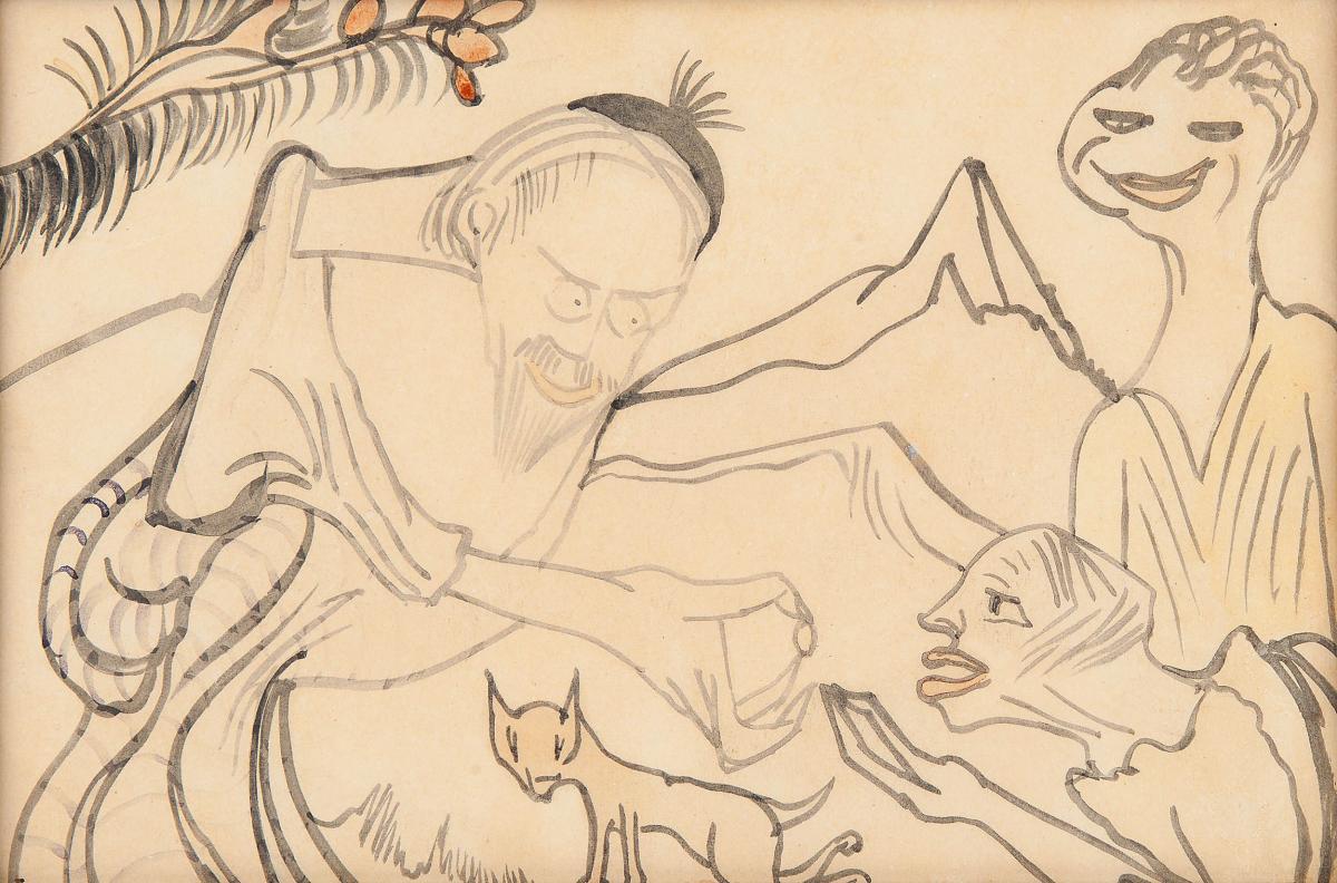 Goldmann Baruch Teerbroom daje Ninie pigułkę, 1922 - 1