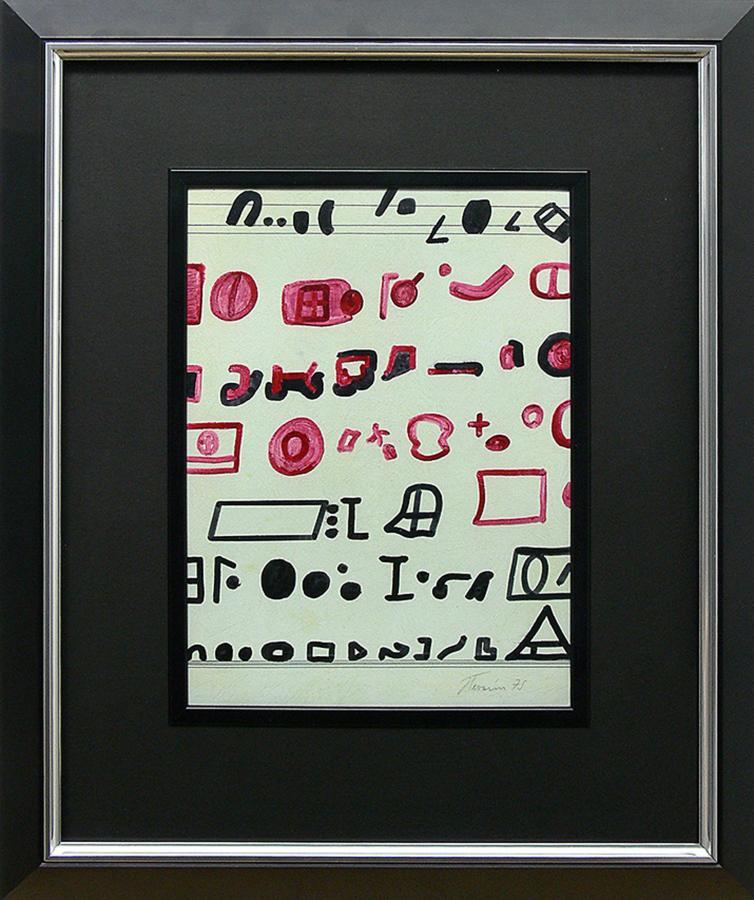 Kompozycja czarno-czerwona, 1975 r. - 2