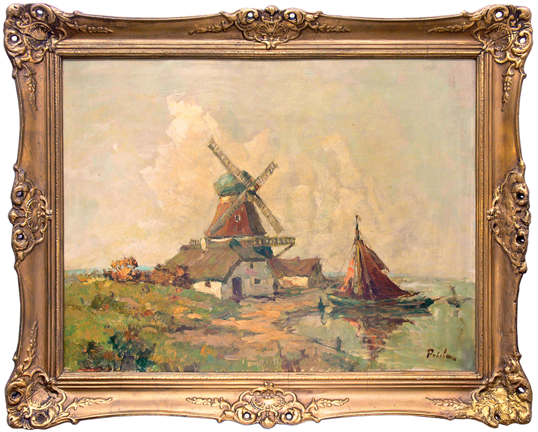 Rudolf Priebe | Łodzie z wiatrakiem