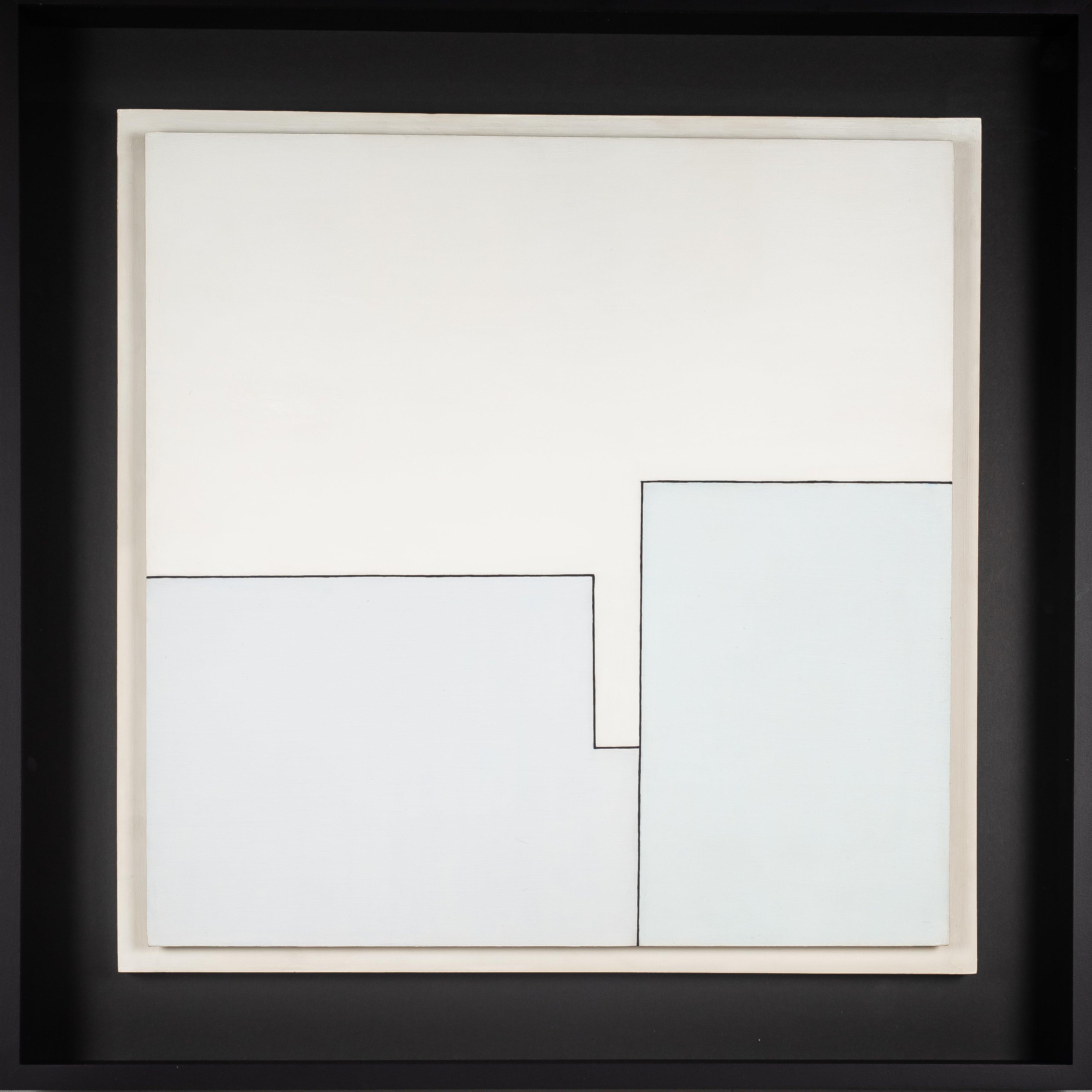Henryk Stażewski | Kompozycja z czarnym konturem, 1983
