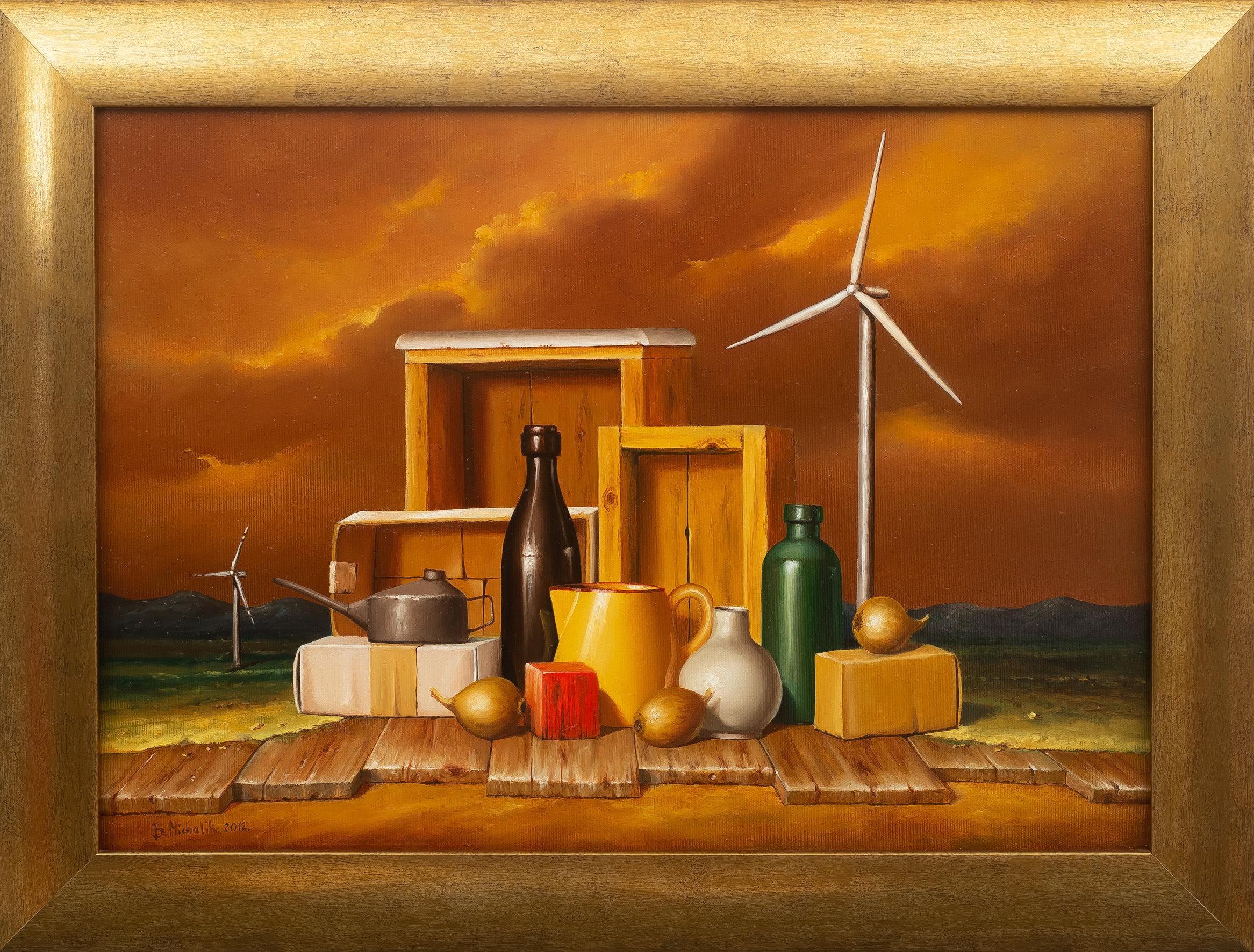 Borys Michalik | Kompozycja z wiatrakiem, 2012