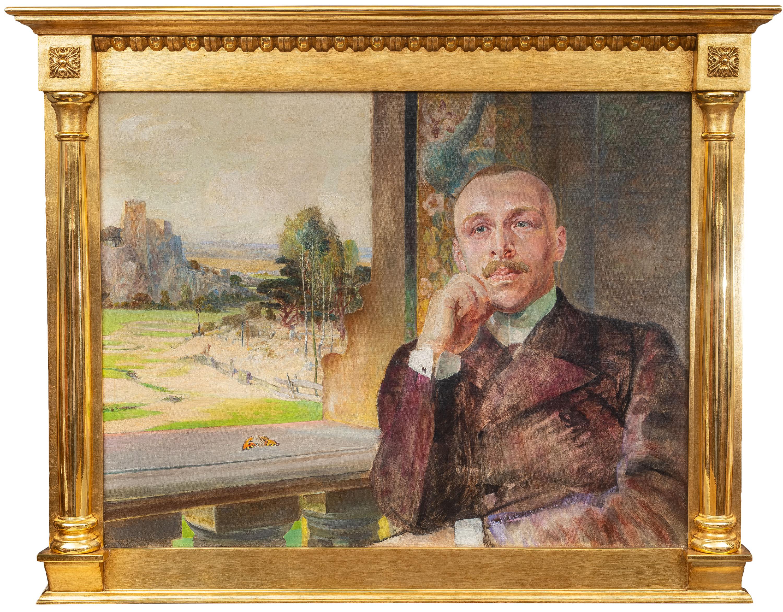 Jacek Malczewski | Portret Stefana Zborowskiego na tle ruin zamku, ok. 1912 r.