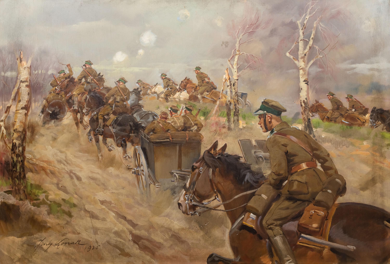 dzialon-artylerii-zajezdza-na-pozycje-1936-r-jerzy-kossak-1096873