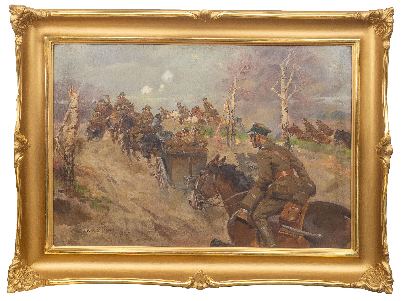 dzialon-artylerii-zajezdza-na-pozycje-1936-r-jerzy-kossak-1530347