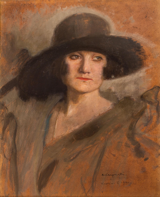 portret-damy-w-kapeluszu-1924-r-alfons-karpinski-1227830