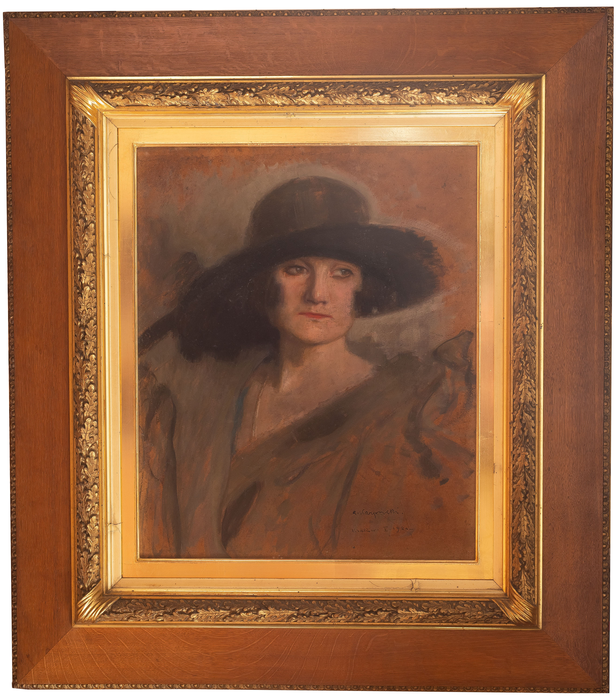 portret-damy-w-kapeluszu-1924-r-alfons-karpinski-1886486
