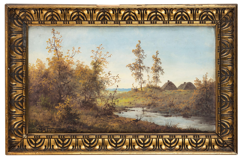 pejzaz-z-dwiema-chatami-w-tle-jozef-guranowski-1472650