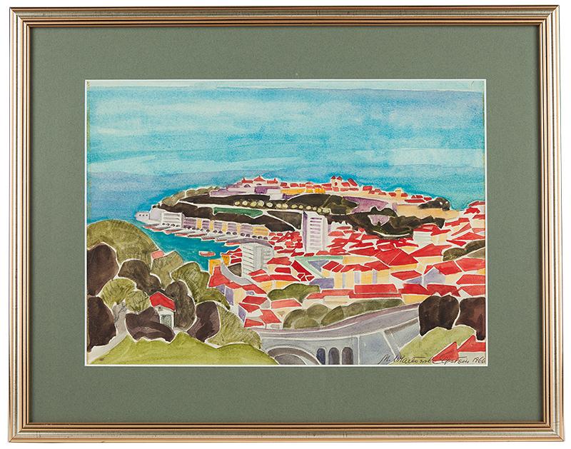 Maria Epstein-Wlazłowska   Lazurowe Wybrzeże - Monaco, 1966 r.