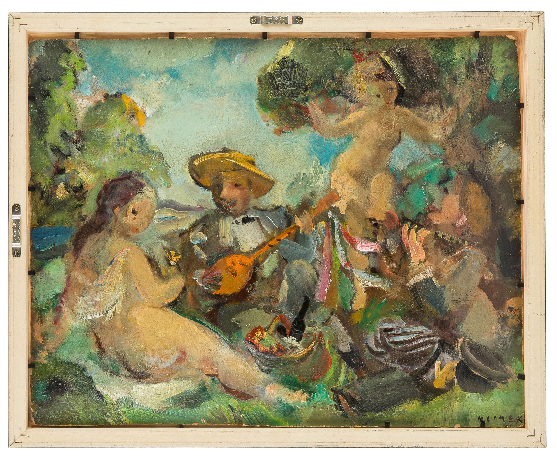 obraz-dwustronny-akt-muzykowanie-na-trawie-ludwik-klimek-1643087