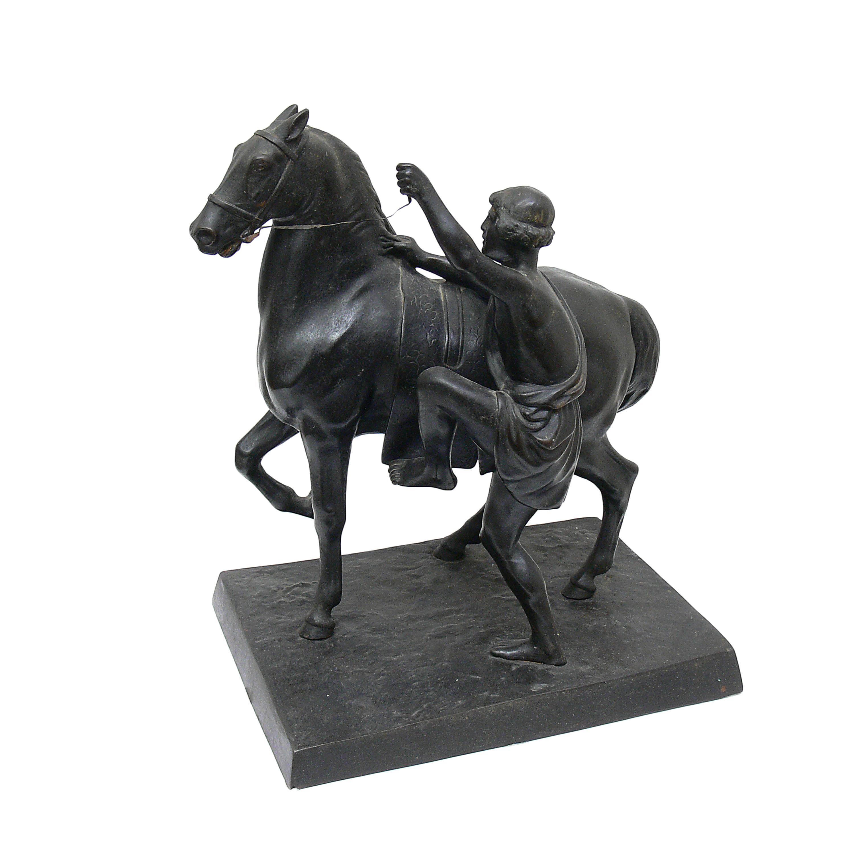 Peter Klodt von Jürgensburg | Grecki jeździec dosiadający konia, przed 1917 r.