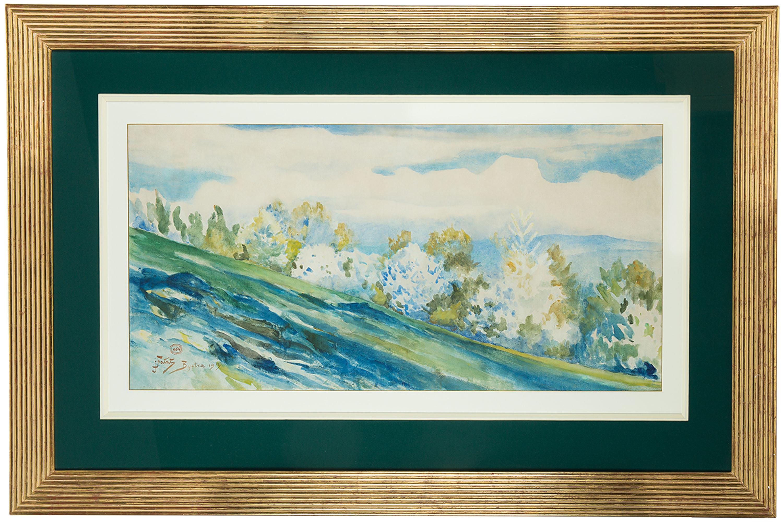 Julian Fałat | Wiosna w Bystrej, 1913 r.