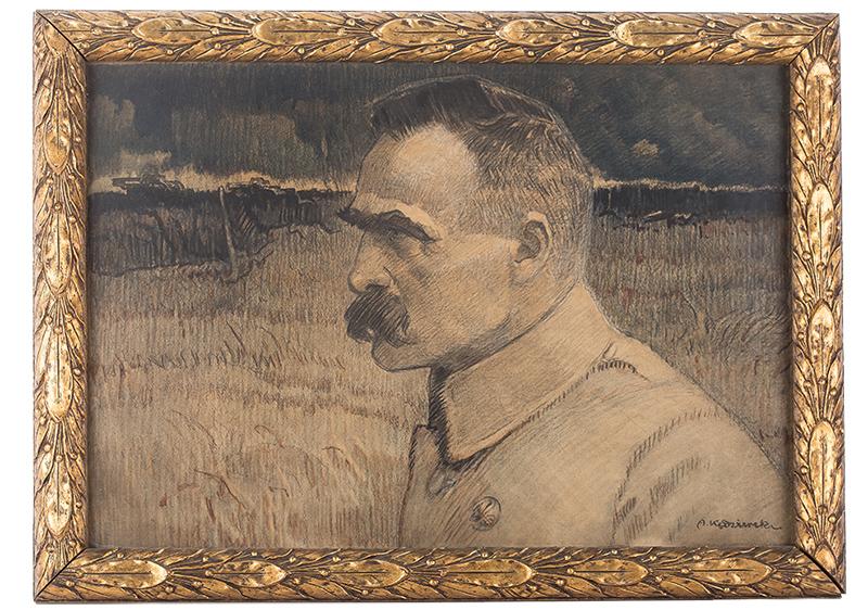 Apoloniusz Kędzierski | Portret Naczelnego Wodza, Józefa Piłsudskiego, 1922 r.