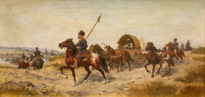 Ludwik Gędłek | Przeprawa przez rzekę