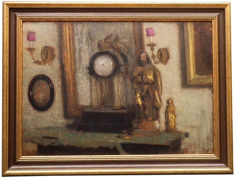 Alfons Karpiński | Martwa natura z zegarem