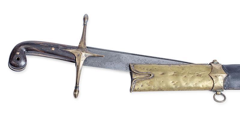 SZABLA TURECKA SZEREGOWYCH PIECHOTY, TZW. PALA,  XVIII W. - 2