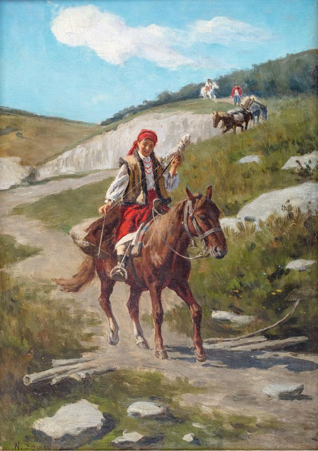 Hucułka na koniu - 1