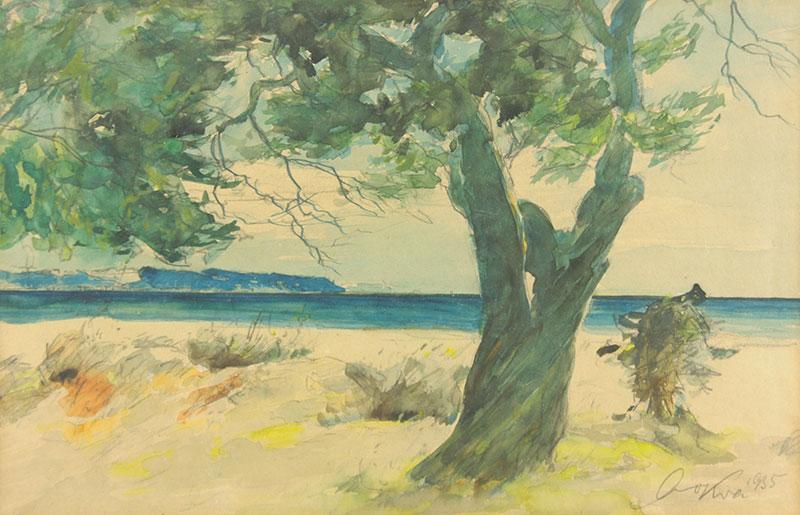 Drzewo na brzegu, 1935 r.