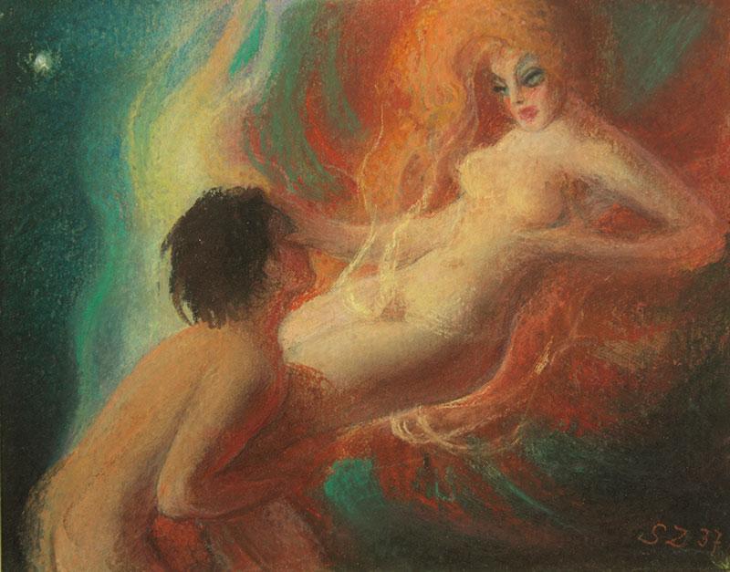 Scena erotyczna, 1937 r.