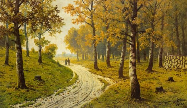 Droga leśna jesienią, 1913 r.