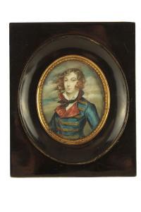 Miniatura Emilia Plater, Polska lub Francja, k. XIX w.