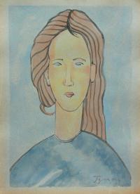Portret niebieski