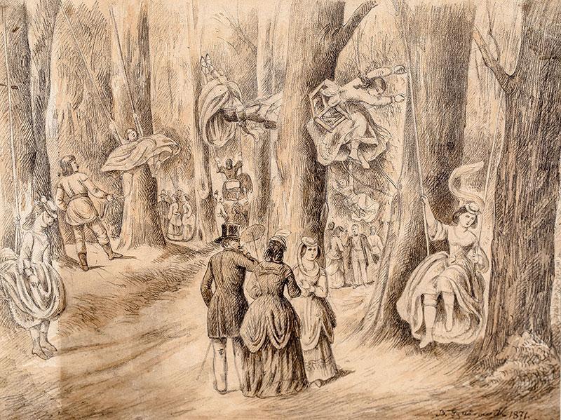 Huśtawki, 1871 r.