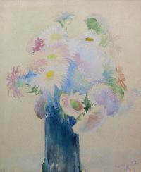 Chryzantemy w wazonie, 1929 r.