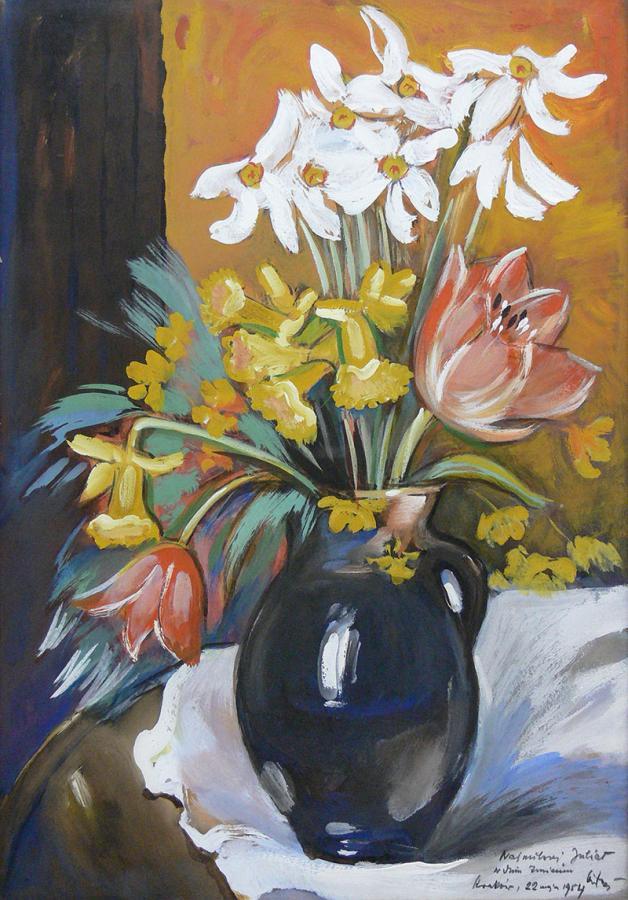 Kwiaty w wazonie, 1954 r.