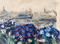 Wenecja z okna pracowni, 1920 r.