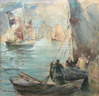 Widok na port, przed 1945 r.