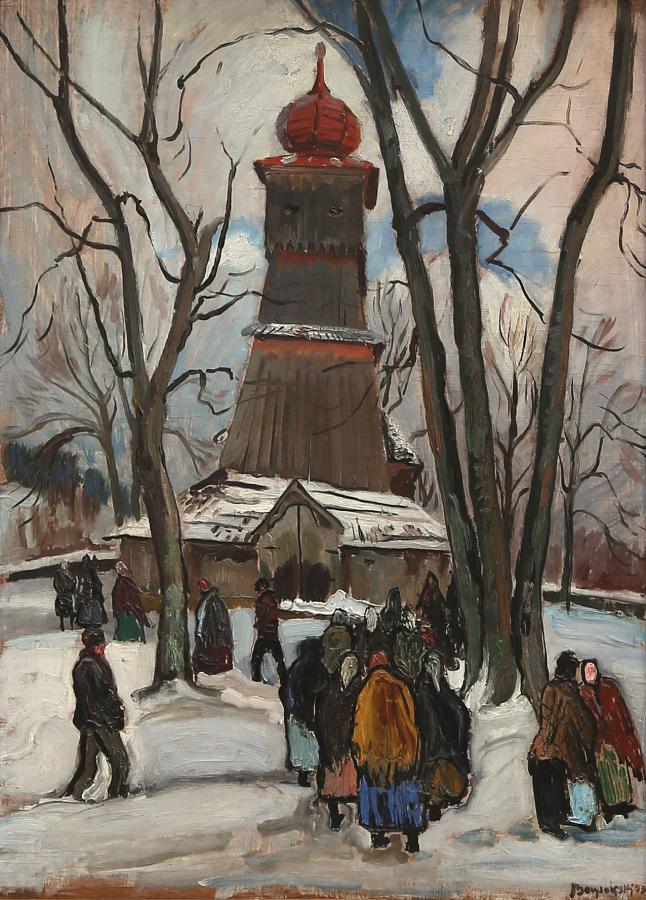 Przed kościołem, 1932 r.