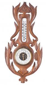Barometr z termometrem,  Dania, Haderslev Hans Nielsen, pocz. XX w.