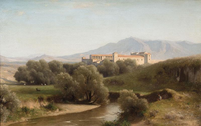 Widok klasztoru we Włoszech