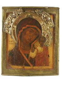 Matka Boska Kazańska w koronie, Rosja, pocz. 18 w.