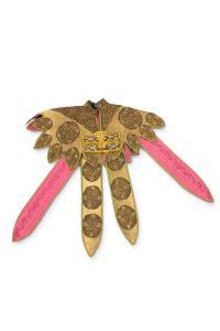Narzuta naramienna, ceremonialna, w kształcie słońca, Etiopia, 1 poł. 20 w.