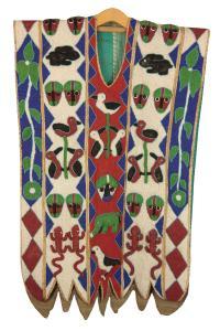 Płaszcz ceremonialny, plemię Yoruba, Nigeria, 19/20 w.
