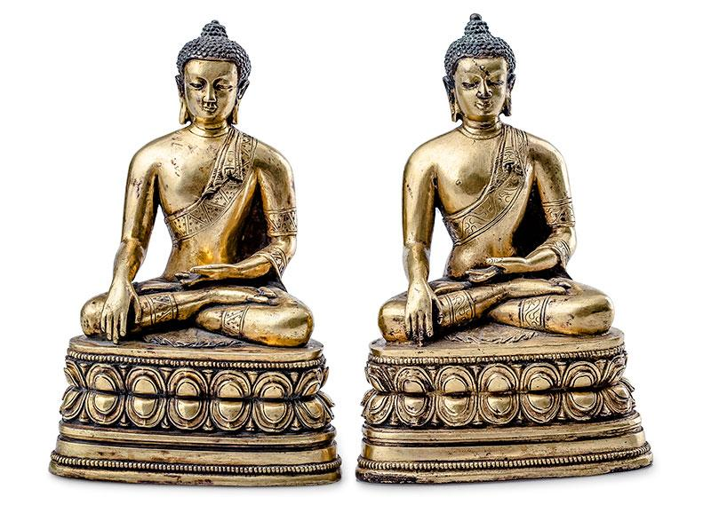 Para Buddów Sakjamuni, Chiny, 19 w.