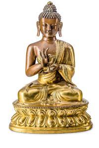Budda Sakjamuni, Chiny, 18 w.
