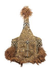 Maska hełmowa Mukyeem, plemię Kuba, Kongo, poł. 20 w.