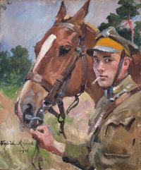 Ułan z koniem, 1926 r.