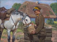 Ułan z koniem, 1936 r.