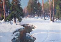 Zimowy strumyk, 1935 r.