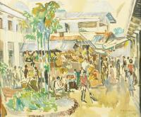 Bazar w Dżakarcie-Tjikni, 1966 r.