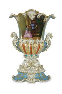 Wazon z miniaturą, Francja, Paryż (?), XIX w.