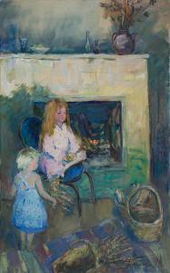 Dziewczynki przy kominku, 2016