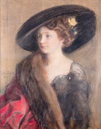 Portret damy, 1910 r.