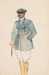 Portret mężczyzny w stroju hipicznym